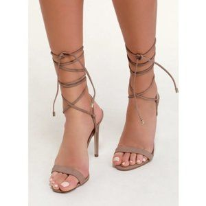 Steve Madden Level Nubuck Leather Sandal in Blush